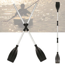 Aluminum 244cm Double-Ended Detachable Afloat Oars Paddles Boat Kayak Raft Canoe