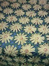 """Vtg Handmade Sunflower Afghan Throw Blanket Table Cover 63"""" x 58"""""""