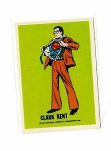 1974 Clark Kent Wonder Bread National Periodical Publications DC Comics Card NM-