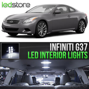 White Interior LED Lights Bulbs Package Kit For 2008-2013 Infiniti G37