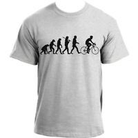 Cycling Evolution T-Shirt, Bicycle Tee Bike Sports Top, Evolution Cyclist Tshirt