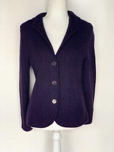 Talbots Petites Purple Cardigan Sweater Jacket Size PM