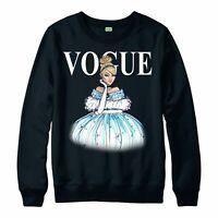 Princess Cinderella Vogue Jumper Spoof Top Unisex Adult Kids Jumper Top