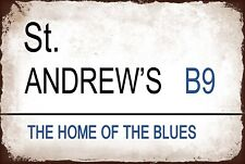 St Andrews Birmingham Metal Street Sign Vintage Football Bar ManCave Plaque Bcfc