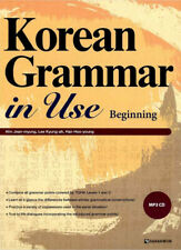 Korean Grammar in Use Beginning with MP3 CD Early Intermediate Education Book