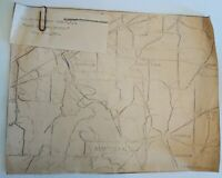 Antique Vintage 1910 Map of Chautauqua County New York Paper Collectible
