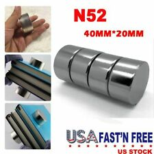 Usa Round N52 Large Neodymium Rare Earth Magnet Big Super Strong Huge 40mm20mm