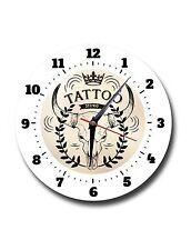 TATTOO STUDIO,CLASSIC,BODY ART, ROUND METAL,WALL CLOCK,732