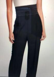 New $1145 XL Donna Karan 12 collection black label wool stretch dress pant + cum