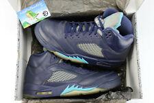 Air Jordan 5 Retro Pre Grape Midnight Navy Turquoise Blue Size 10 136027 405