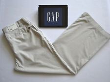BNWT GAP Hip Slung Fit Light Grey Pants Trousers Wide leg Loose Fit UK14 W36 L31