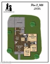 CAD DWG, and PDF files for Custom Home House Plan 1,426 SF Blueprint Plans