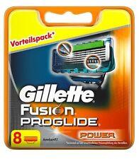 8 Stück GILLETTE FUSION PROGLIDE POWER RASIERKLINGEN NEU UND ORIGINAL