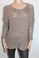 FATE Brand Brown Chunky Knit Long Sleeve Jumper Size 10 BNWT #TE32