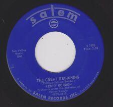 KENNY GORDON {Easy Pop Crooner} The Great Beginning / Play Fiddle Play ♫HEAR