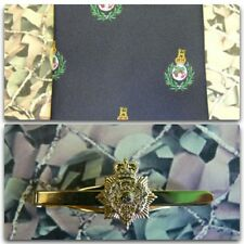 Royal Marines (Crest) Tie & Tie Bar Set With PITH HELMET Tie Bar RM