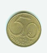Münze International Österreich 50 Groschen 1990