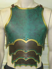 CUSTOM CRAFTED ORNATE GOTHIC CHEST and BACK armor LARP COSPLAY