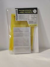 Phone Pouch + Label Pockets  ( Self Adhesive Zipper Pouch and Label holders