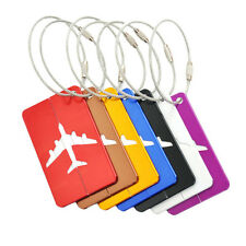 Aluminium Luggage Tags Suitcase Label Name Address ID Bag Baggage Tag Travel