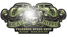 King Kerosin Dead Hippy 60cm Aufkleber Sticker Retro Oldschool Käfer Ratte VW V8