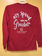 Simply Southern Women's T-shirt Size Medium Long Sleeves Color Red My Squad Call