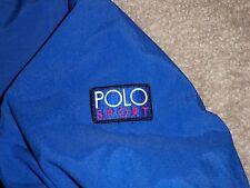 Mens VTG 90s RALPH LAUREN POLO SPORT Jacket w/Fleece Lining M ROYAL BLUE 92 93