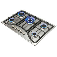 Stainless Steel 30inch Built-in 5 Burner Stoves LPG/NG Gas Hob Cooktops COOK TOP