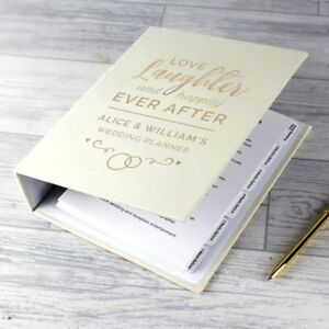 Personalised Happily Ever After Wedding Planner Organiser Notes Folder Book