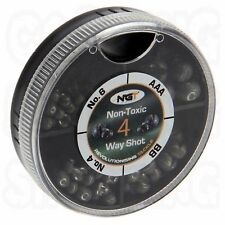 NGT 4 WAY SPILT SHOT COARSE CARP FISHING WEIGHTS NON TOXIC LEADS WEIGHT NEW
