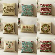 Christmas Santa Claus Waist Throw Pillow Case Cushion Cover Home Decor Square