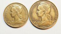 Réunion -10 et 20 francs 1955 TTB