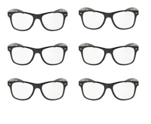 Reading Glasses Mens Readers 6 Pair Lot Black Large W4BSRG New +3.25 Strength