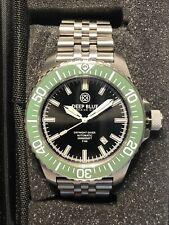 Deep Blue DayNight Diver T-100 300m Black Dial Green Bezel Tritium Tubes