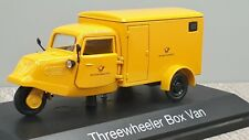 Schuco Edition 1:43 Threewheeler Box Van Deutsche Bundespost mit Spiegelpaar
