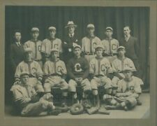 Young men athletes baseball team in uniforms w gear antique sport photo