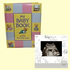 Baby Record Book Keepsake Diary Birth to 5 Yrs & 2 Pk Announcement Scan Cards