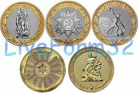 ✔ Russia 2015 Full Set of 5 coins 65 - 70 Years of Victory in WWII 10 rubles UNC