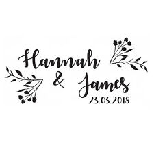 PERSONALISED SAVE THE DATE RUBBER STAMP WEDDING ENGAGEMENT CELEBRATION