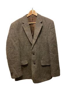 "Original Borders Tweed Blazer Jacket Size 40"" 100% Wool"