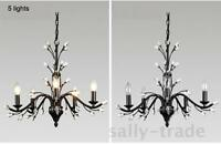 Modern Wrought Iron Chandelier Lighting W/ 3/5/9/12 Lights Crystal Decor Bedroom