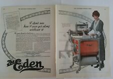 1919 Brokaw Eden company wringer washer washing machine vintage 2 page ad