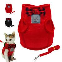 Pet Control Harness & Leash Small Dog Puppy Cat Soft Mesh Walk Collar Strap Vest