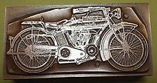 """""""INDIAN MOTORCYCLE"""" (USA) PRINTING BLOCK."""