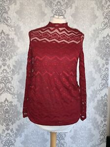 Red Christmas Maternity Top Bnwt 14 Dorothy Perkins Lace Look
