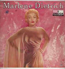 """Marlene Dietrich """"Marlene Dietrich"""" 1957 LP Decca 8465 """"Lili Marlene"""" NM Cond."""