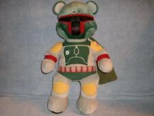 "Boba Fett Star Wars Bounty Hunter Build a Bear 18"" Soft Plush Toy with Cape used"