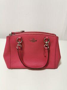 NWT Coach F57523 Mini Christie Carryall Satchel Handbag Crossbody Strawberry