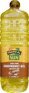 Tropical Sun Groundnut Oil 1L bottle - Peanut OIl 1L
