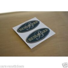 BESSACARR - (RESIN DOMED) - Caravan Dent Cover Stickers Decals Graphics - PAIR